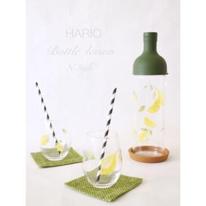暑い夏にピッタリ!爽やかなレモン柄のハリオボトル