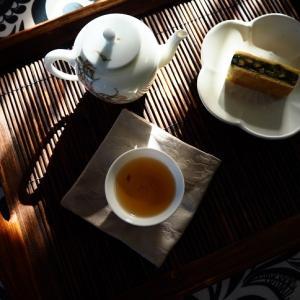 抹茶胡桃と台湾茶