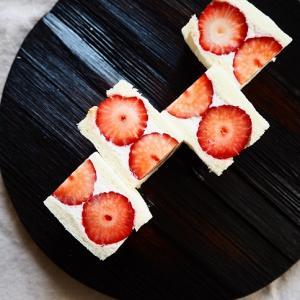 イチゴのフルーツサンド