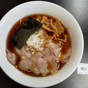 今日の昼食は、びんびん亭高尾駅南口店のチャーシュー麺ですd=(^o^)=b
