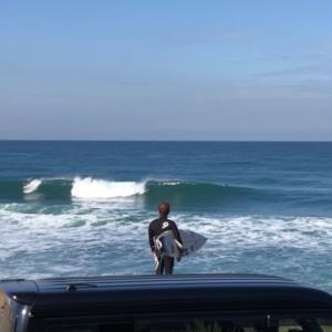 【日本海サーフィン】無風です!綺麗な波です!!サーフィン最高です!!!