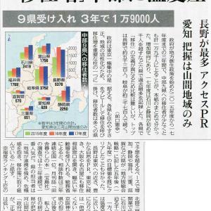 移住増、中部圏では長野県が最多!