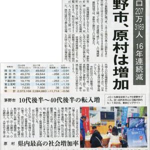 原村の人口が増えた。長野県は…。そして、日本は…
