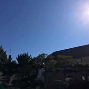 今日も晴れ渡る空