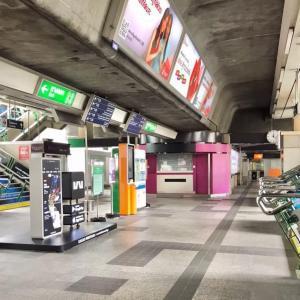 昨日のプロンポン駅の風景
