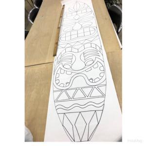 サーフボードのデザインにティキ★免疫力