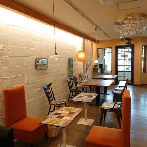 フランネルシャツワンピ&お気に入りカフェ