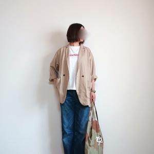 便利なリネンブレンドジャケット
