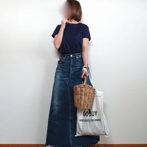 ファッション誌を参考にしたデニムスカートのコーデ