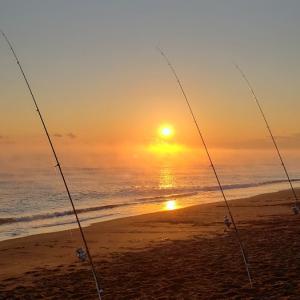 子供と2日目の鮭釣り