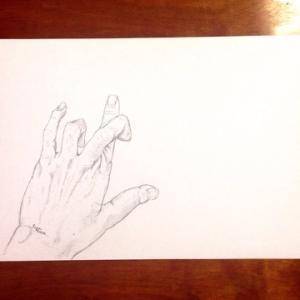 手を模写る。筋血液毛!作品紹介!