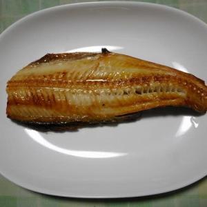 夕飯はホッケ焼き魚でした