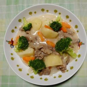夕飯は北海道シチューでした