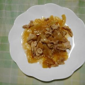 夕飯は豚ロース生姜焼きでした