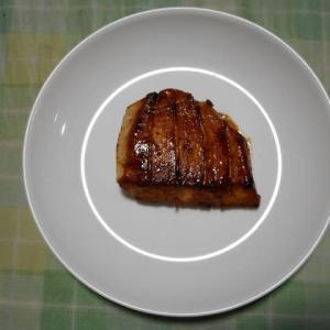 夕飯はカジキマグロ照焼きでした
