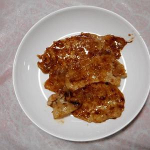 夕飯は豚ロース焼肉でした