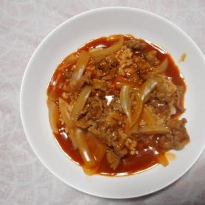 夕飯はトマトハヤシライスでした