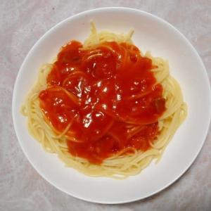 夕飯はスパゲッティナポリタンでした