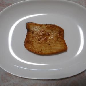 夕飯はカジキマグロ照り焼きでした