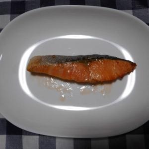 夕飯はしゃけ焼き魚でした