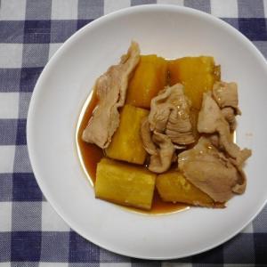 夕飯は豚さつまいも煮でした
