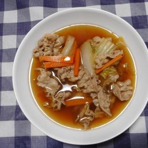 夕飯は豚肉野菜鍋でした