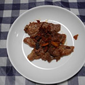 夕飯は豚肩ロースガーリック味焼肉でした