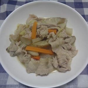 夕飯は根菜豚汁でした