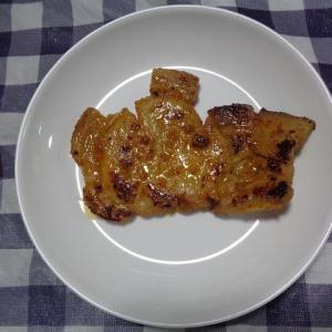夕飯は豚ロース味噌焼肉でした
