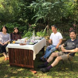 国立音楽大学教授 菊池幸夫先生ご夫妻と教育実習の娘と