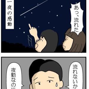 流星群がやってきた夜