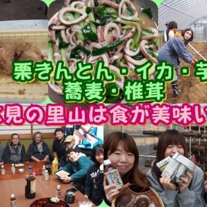 氷見の里山は食が美味い!/椎茸・焼き芋・栗きんとん・イカ・蕎麦