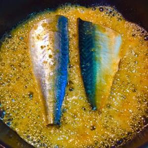 No2279鯖味噌をフワッと仕上げる。