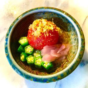 No2884トマトとオクラと新生姜