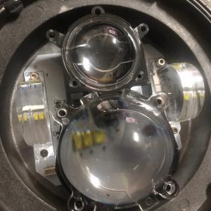 中華製プロジェクターLEDヘッドライト ハーレー用7インチ 検証