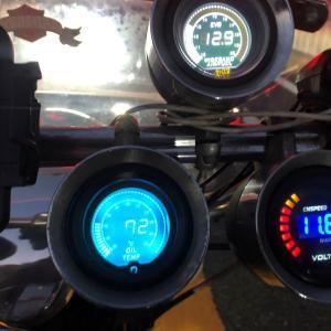 油温計が壊れたのでデジタル表示メータに交換