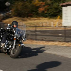 BMW S1000XRと月ヶ瀬