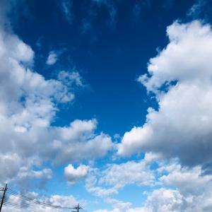 おはよう…昨日の空