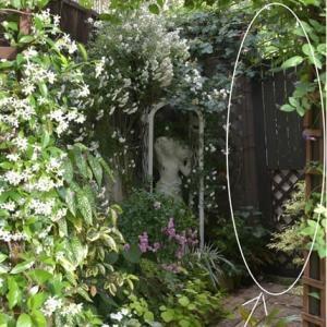 庭の目隠し用ドアの修理&桜と小春ちゃん