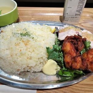 ■銀座の「築地揚げ鳥」で、デカ盛り合盛り定食!
