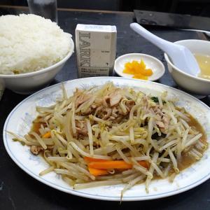 ■北品川の「登龍」で、デカ盛りもやし炒め定食!