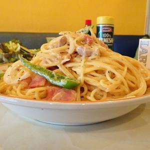 ■月島の「エルエーカフェ」で、デカ盛りスパゲッティ!