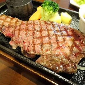 ■大島の「パパスグリル」で、デカ盛りステーキ!