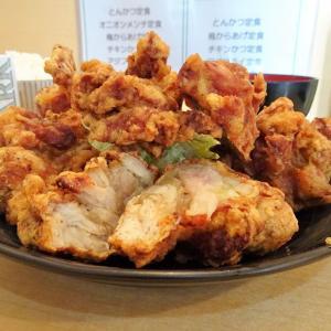 ■日吉の「とんかつ三田」で、デカ盛り唐揚げ定食!