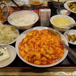 ■神田の「南国亭」で、デカ盛り海老チリ定食!