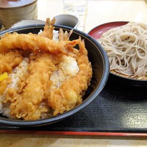 ■神保町の「小諸そば」で、デカ盛り上天丼セット!