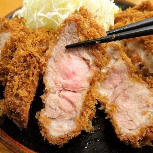 ■大門の「とんかつ檍」で、デカ盛りとんかつ定食!