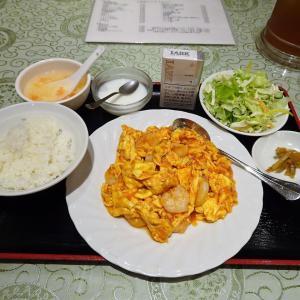 ■神保町の「上海庭」で、デカ盛り海老チリ定食!