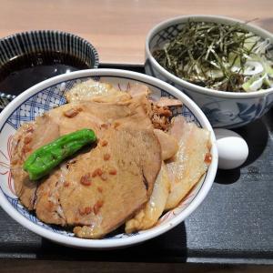 ■銀座の「そば俺のだし」で、デカ盛りチャーシュー丼!