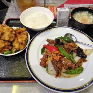 ■神田の「随苑」で、デカ盛り牛肉炒め定食!